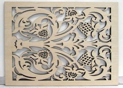 Wood screens cut