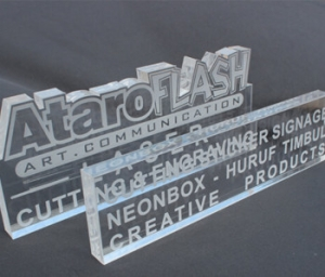 Laser engraving of plastic materials such as PVC