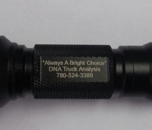 Laser marking example from past client